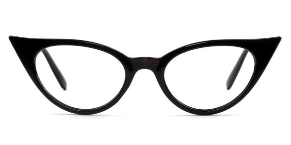 A-1242 Tania Cateye black glasses