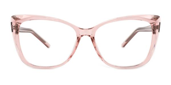 A-2001 Kacie Rectangle pink glasses