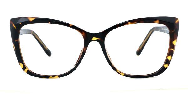 A-2001 Kacie Rectangle tortoiseshell glasses
