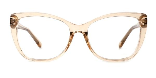 A-2005 Wenona Rectangle brown glasses