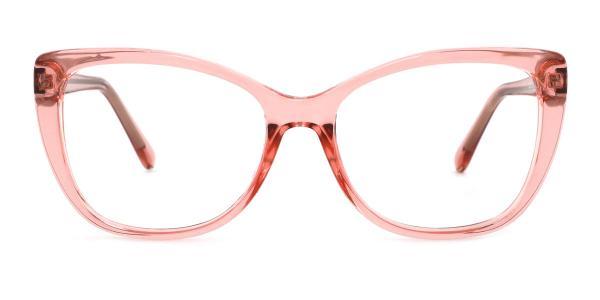 A-2005 Wenona Rectangle pink glasses