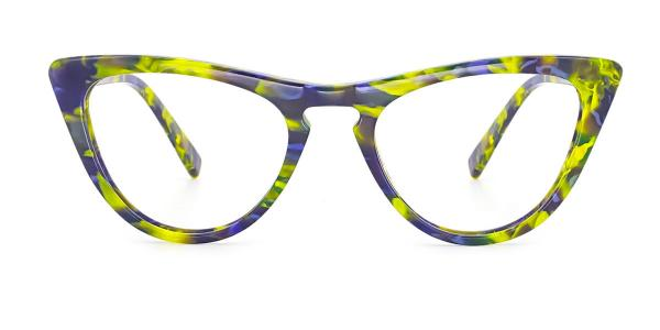 A05 Mary Cateye green glasses