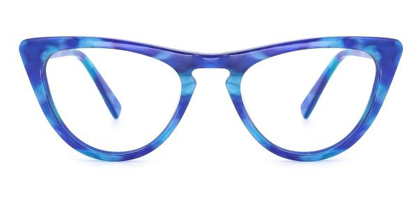 A05 Mary Cateye blue glasses