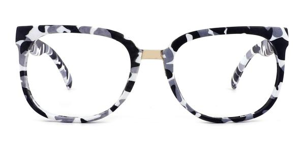 F062 Sophie Rectangle white glasses