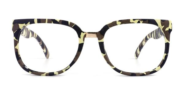 F062 Sophie Rectangle yellow glasses