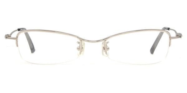 HA-604 Wilcox Rectangle silver glasses