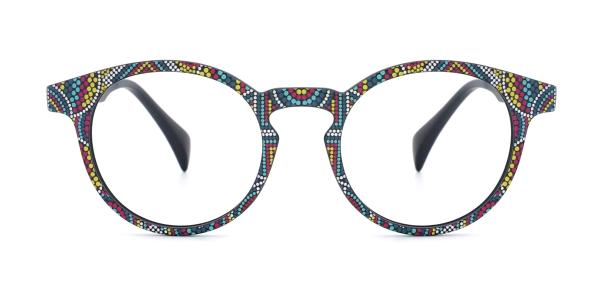 IS031 Isra Round floral glasses