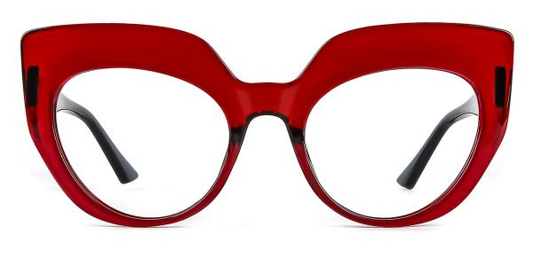 K9620 Sasha Cateye red glasses