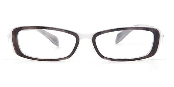 LE414 Yokote Rectangle white glasses
