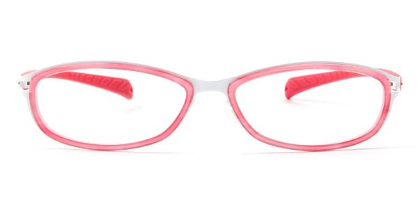LE415 Agnes Oval pink glasses