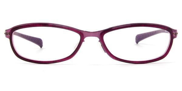 LE415 Agnes Oval purple glasses