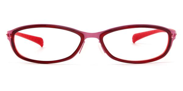LE415 Agnes Oval red glasses