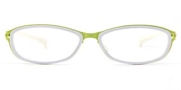 LE415 Agnes Oval white glasses