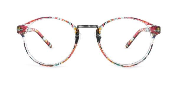 M046 Latanya Round floral glasses