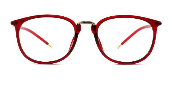 M062 Ingeborg Oval red glasses