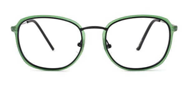M067 Sally Oval green glasses