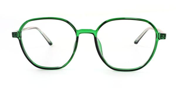 M6976 Teri Geometric green glasses