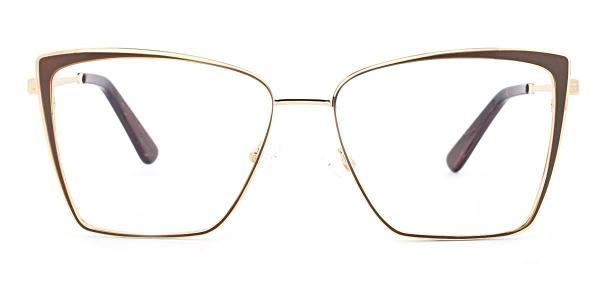 M8610-1 Pansey Cateye brown glasses