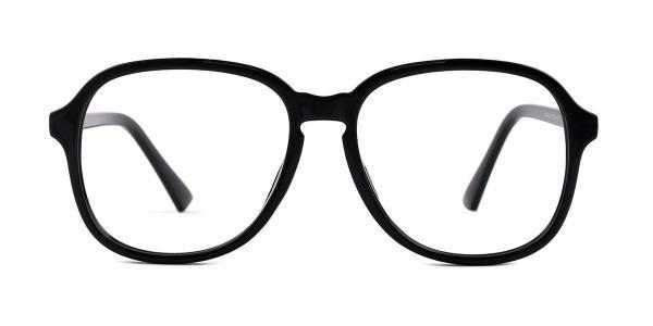 OF8852 Alfreda Oval black glasses