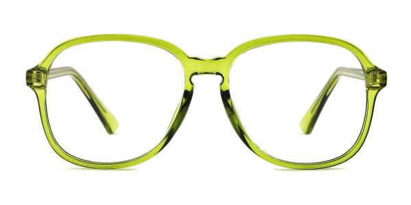 OF8852 Alfreda Oval green glasses