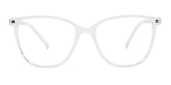 R92151 Delilah Rectangle white glasses