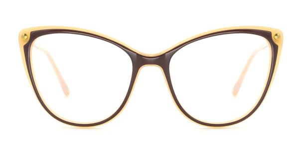 RT-3007 Panda Cateye brown glasses