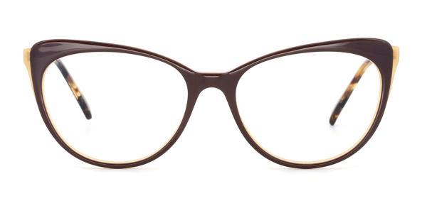 RT-3011 Doris Cateye brown glasses