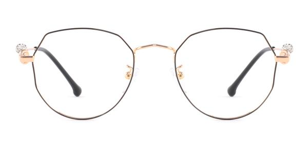 S11265 Aliya Geometric red glasses