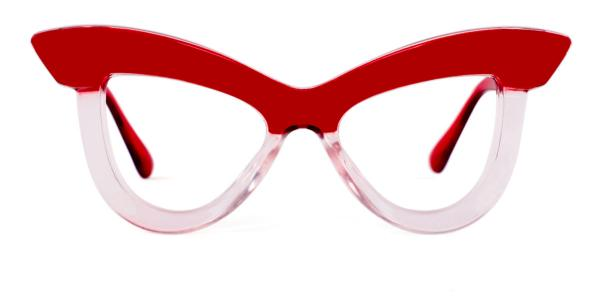 S8053 Kerrin Cateye red glasses