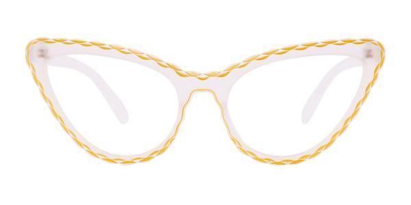 S8073 Betty Cateye yellow glasses