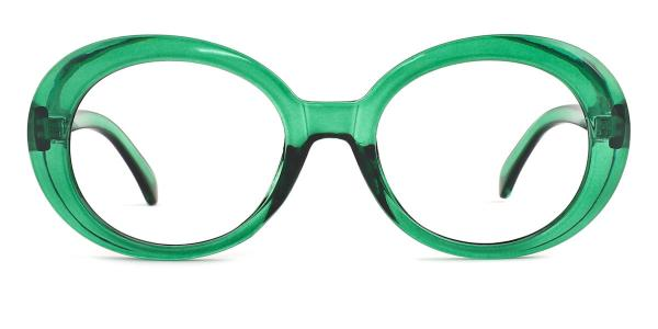 X1304 Kelley Oval green glasses
