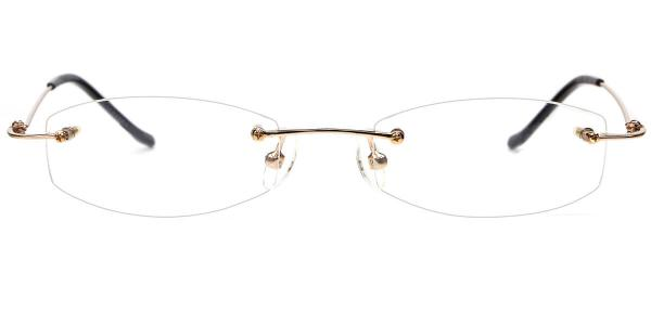 X7011 Adkins Rectangle,Oval gold glasses