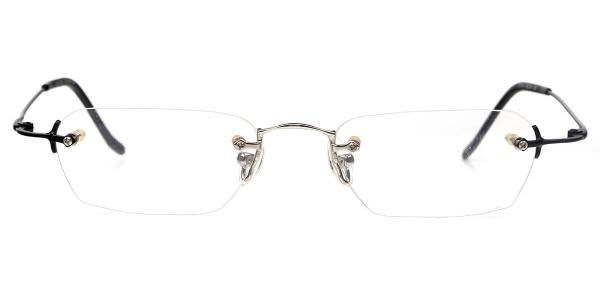 X7014 BENSON Oval black glasses