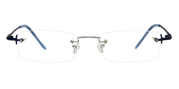 X7016 Bernie Rectangle blue glasses
