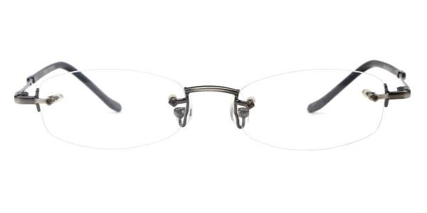 X7019 Danny Oval grey glasses