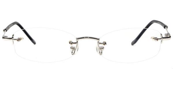 X7019 Danny Rectangle silver glasses