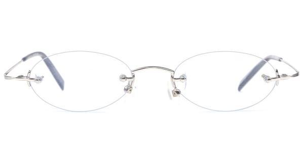 X7028 Nenote Oval silver glasses