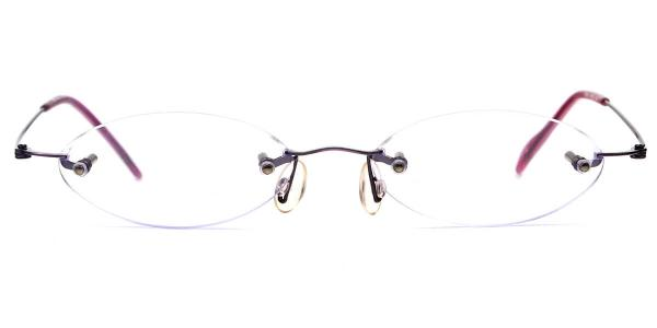 X7063 Linn Oval purple glasses