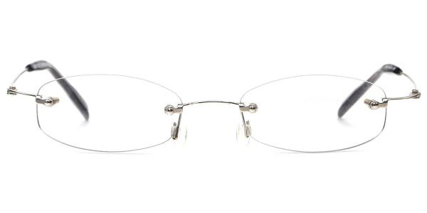 X7069 AEOLUS Oval grey glasses