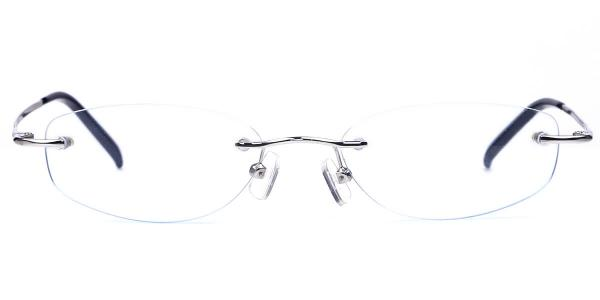 X7116 Darleen Rectangle,Oval silver glasses