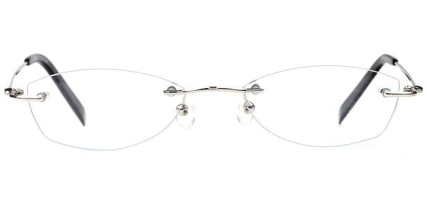 X7123 Botanist Rectangle silver glasses