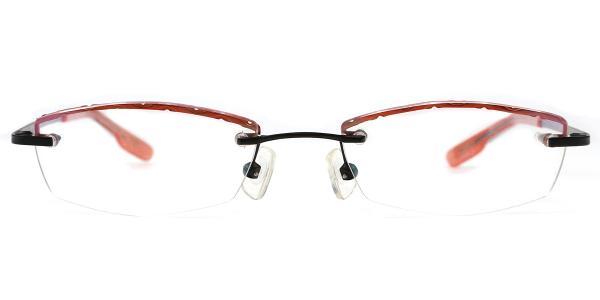 X7301 JOEY Rectangle orange glasses