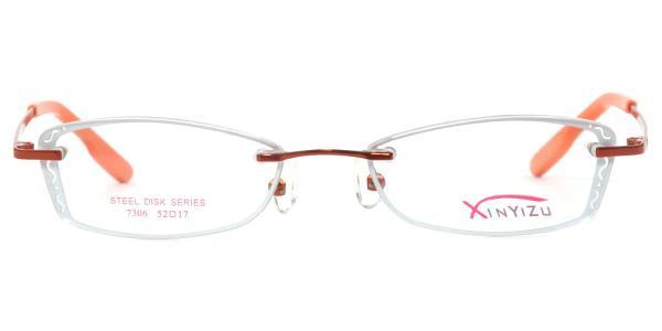 X7306 CASSIE Rectangle orange glasses
