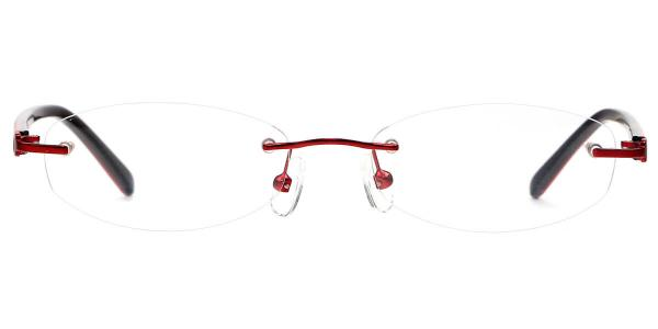 X7317 Grace Oval red glasses