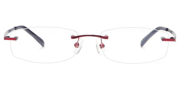 X7325 Fiona Rectangle red glasses