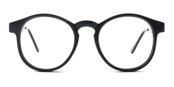 Z3185 Yadyra Round black glasses