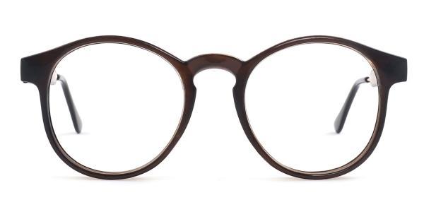 Z3185 Yadyra Round brown glasses