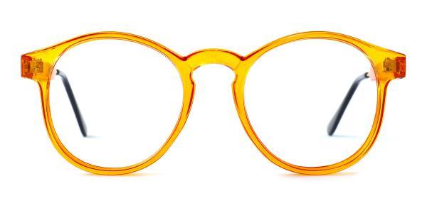 Z3185 Yadyra Round orange glasses