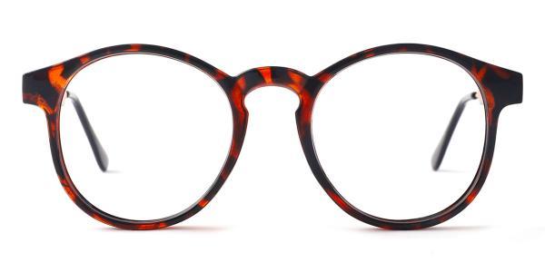 Z3185 Yadyra Round tortoiseshell glasses
