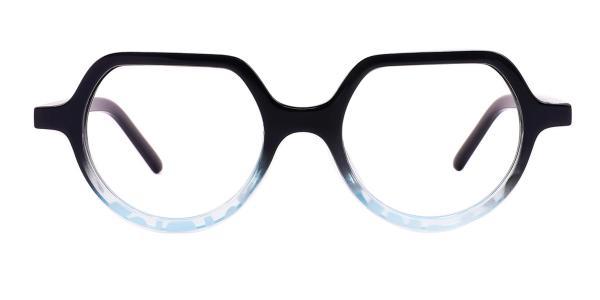 Z3304 Hellon Geometric tortoiseshell glasses